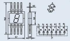 Индикатор знакосинтезирующий 3ЛС320Б