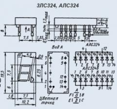 Индикатор знакосинтезирующий 3ЛС324В-1