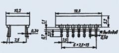 Индикатор знакосинтезирующий АЛС334Б-1