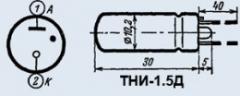 Индикатор тлеющего разряда ТНИ-1.5Д