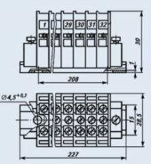 Клемма БЗН16-4П-25-Д/Д 12