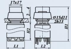 Кнопочный переключатель П2КНТА-4В