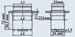 Кнопочный переключатель П2П1ТА-1КВ