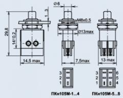 Push-button PKN105M-6 switch