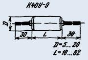 Конденсатор бумажный К40У-9 0.033 мкф 200 в