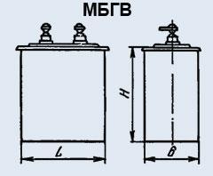 Конденсатор бумажный МБГВ 60 мкф 1000 в