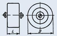 Конденсатор керамический высоковольтный К15У-1А 47