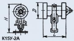 Condenser ceramic high-voltage K15U-2A 1500 pf 20