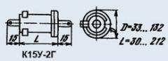 Condenser ceramic high-voltage K15U-2G 270 pf 2 kV