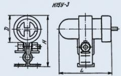 Condenser ceramic high-voltage K15U-3 47 pf 6 kV