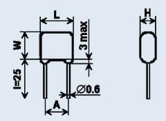 Конденсатор керамический КМ-6а 6200 пф М1500 +-5%