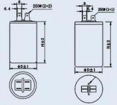 Конденсатор пленочный CBB-60 35 мкф 450 в