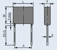 Конденсатор пленочный К73-17 0.022 мкф 400 в