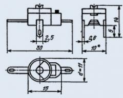 Конденсатор подстроечный КПК-МН 8/30 пф 350 в