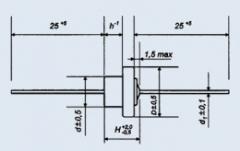 The condenser tantalic objemnoporisty K52-2 10 mkf