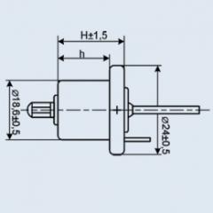 The condenser tantalic objemnoporisty K52-7A 750