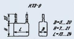 Конденсатор фольгированный К73-9 0.1 мкф 100 в