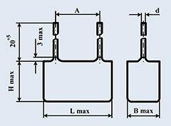 Конденсатор фольгированный К78-2 0.1 мкф 250 в
