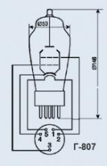 Лампа генераторная Г-807