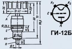 Лампа генераторная ГИ-12Б