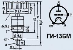 Лампа генераторная ГИ-13БМ