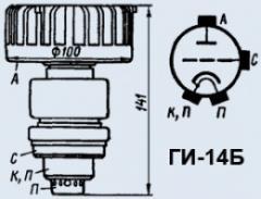 Лампа генераторная ГИ-14Б