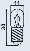 Лампа миниатюрная МН-18-0.1 Е10/13