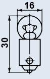 Лампа миниатюрная МН-2.5-0.29 В9s/14