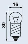 Лампа миниатюрная МН-2.5-0.56 Е10/13