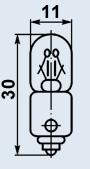 Лампа миниатюрная МН-26-0.12 В9s/14