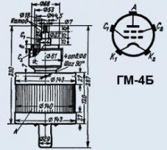 Лампа модуляторная ГМ-4Б