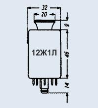 Лампа пальчиковая 12Ж1Л