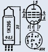 Лампа пальчиковая 1Ж29Б