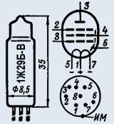Лампа пальчиковая 1Ж29Б-В
