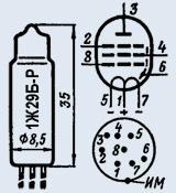 Лампа пальчиковая 1Ж29Б-Р
