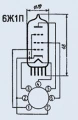 Lamp finger-type 6Zh1P-EV
