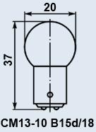 Лампа самолетная СМ-13-10 B15d/18