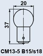 Лампа самолетная СМ-13-5 B15s/18