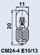 Лампа самолетная СМ-24-4 E10/13