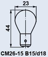 Лампа самолетная СМ-26-15 B15d/18