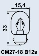 Лампа самолетная СМ-27-18 B12s