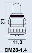 Лампа самолетная СМ-28-1.4 1-2М10-1