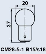 Лампа самолетная СМ-28-5-1 B15s/18