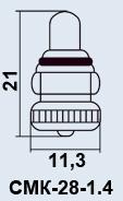 Лампа самолетная СМК-28-1.4 1-2М10-1