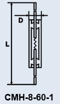 Лампа сверхминиатюрная СМН-8-60-1