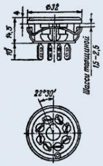 Ламповая панель ПЛ8-3П