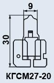 Лампы кварцевые КГСМ-27-20