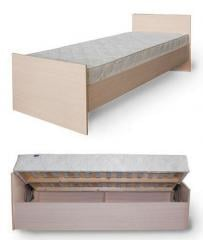 Single bed from a chipboard