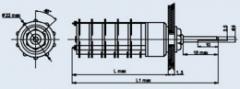 Миниатюрный галетный переключатель ПГ7-27-8П2