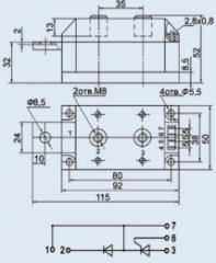 Модуль диодно-тиристорный МДТ-200-12